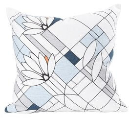 Frank Lloyd Wright Water Lilies Cotton Throw Pillow