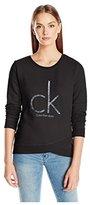 Calvin Klein Jeans Women's Caviar Ck Logo Sweatshirt
