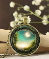Designs By Karamarie Designs by KaraMarie Women's Necklaces - Blue & Bronzetone Glass Enchanted Forest Pendant Necklace