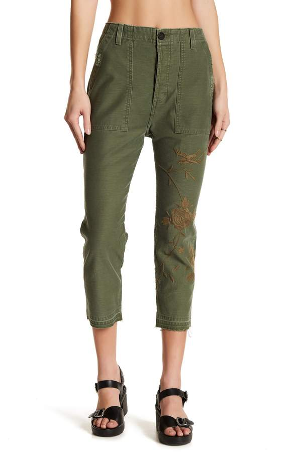 Siwy Denim Gretha Embroidered Cropped Pants