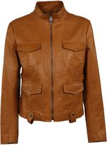 Bottega Veneta Full Zip Leather Jacket