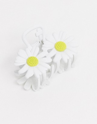 ASOS DESIGN hair claw clip in daisy design