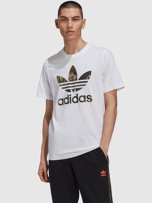adidas Camo Trefoil T-Shirt - White