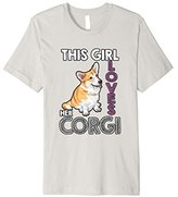 Men's Cute Cardigan Corgi Dog Shirt- This Girl Loves Her Corgi 3XL