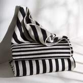 west elm Happy Habitat Recycled Cotton Throw - Mixed Stripes