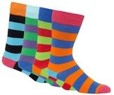 Red Herring Pack Of Four Multi-coloured Block Striped Socks