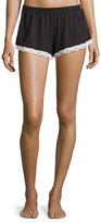 Cosabella Majestic Lace-Trim Boxer Shorts, Black/White