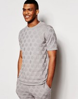 Asos Knitted Tshirt With Circles Stitch