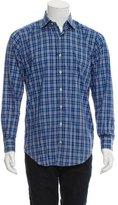 Peter Millar Plaid Button-Up Shirt w/ Tags