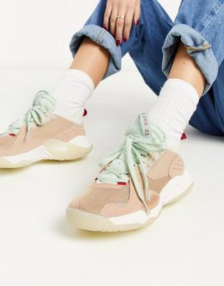 Jordan Nike Delta trainers in tan