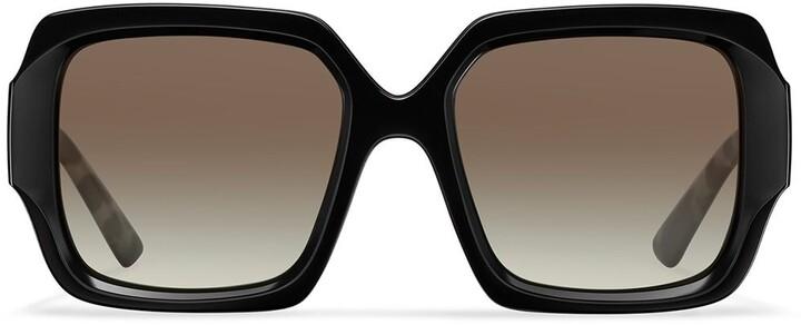 Thumbnail for your product : Prada Tortoise Arm Square Sunglasses