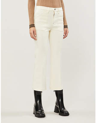 Frame Carpenter cropped wide-leg high-rise jeans