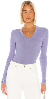 Enza Costa Rib Fitted Long Sleeve Tee