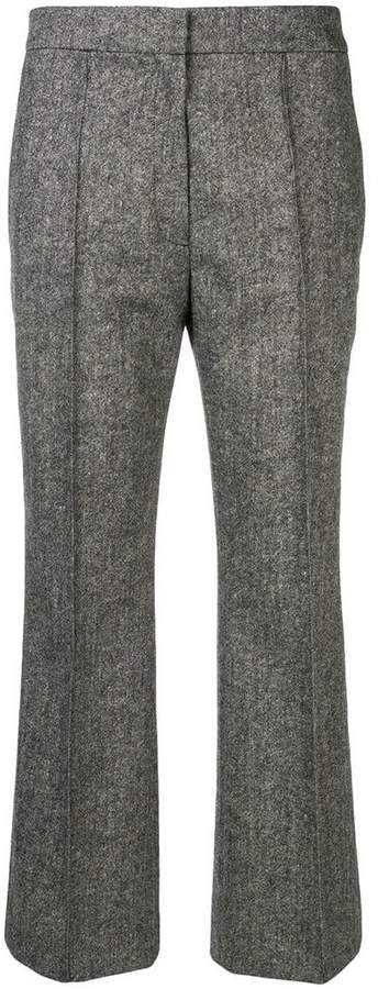 Rochas high-waist cropped trousers