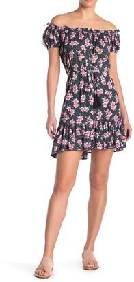 Tiare Hawaii Off-The-Shoulder Floral Mini Dress