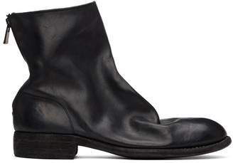 Guidi Black Back Zip-Up Boots