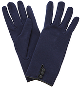 John Lewis Jersey 3 Button Gloves, One Size, Navy