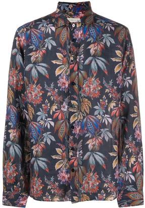 Etro Leaf-Print Long Sleeved Shirt