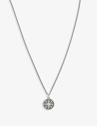 Serge Denimes Compass silver necklace