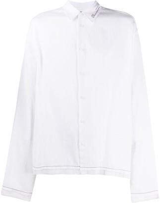 Oamc Rose Back Print Shirt