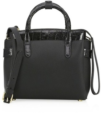 Nancy Gonzalez Mini Cristie Crocodile-Trimmed Leather Satchel