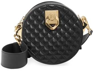 Balmain Twist Quilt Leather Crossbody Bag