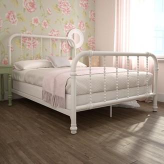 DHP Kids Jenny Lind Metal Bed, Full, White