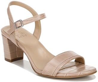 Naturalizer Bristal Block Heel Croc Embossed Sandal - Wide Width Available