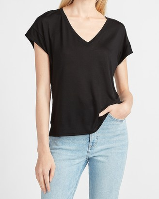 Express Relaxed Dolman Sleeve V-Neck Tee