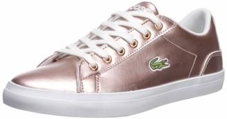 Lacoste Girls' Lerond Sneaker pink/white 6.5 Medium US Big Kid