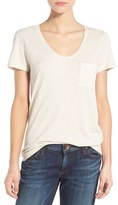 Women's Caslon Relaxed Slub Knit U-Neck Tee