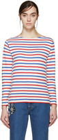 Saint Laurent Tricolor Distressed T-Shirt