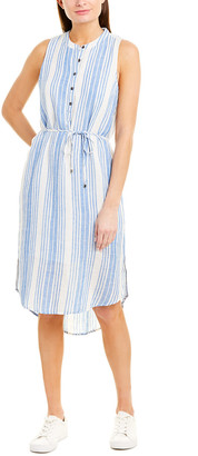 Splendid Tie-Waist Linen-Blend Midi Dress