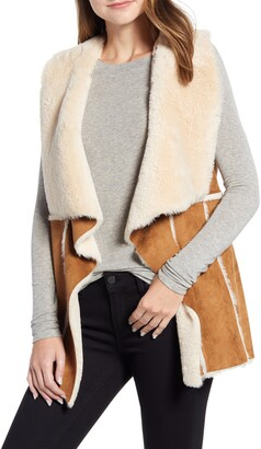 Cupcakes And Cashmere Jo Faux Suede & Shearling Vest