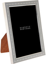 """Barneys New York Dotted Silver-Plate 5"""" x 7"""" Picture Frame-SILVER"""