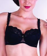Samanta Black Lace Earth Full-Fit Bra