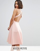 Asos Scuba Cross Back Midi Dress