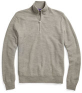 Ralph Lauren Purple Label Wool-Cashmere Half-Zip Sweater