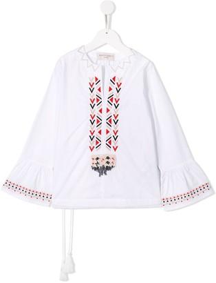 Alberta Ferretti Kids embroidered beaded tunic top