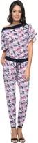 Juicy Couture Silk Seaside Floral Jumpsuit