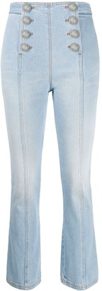 Balmain Sailor high-waisted jeans