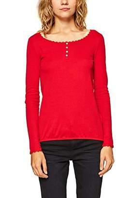 Esprit edc by Women's 098cc1k014 Long Sleeve Top,X-Small