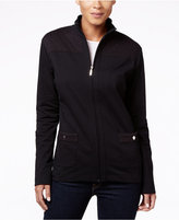 Karen Scott Quilted Zip-Front Jacket, Only at Macy's