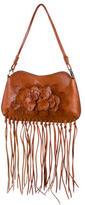 Valentino Floral Leather Shoulder Bag