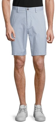 Michael Kors Pinstripe Stretch Cotton Shorts