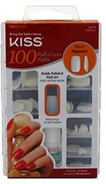 Kiss 100 Full Cover Nails Square Short 1 Pk.