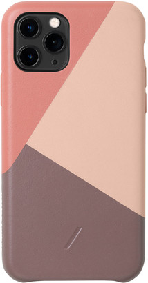 Native Union Clic Marquetry Protective Leather Case with Card Holder for iPhone 11 Pro
