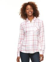 Croft & Barrow Women's Plaid Shirt