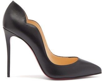 Christian Louboutin Hot Chick Scalloped-edge Leather Pumps - Black