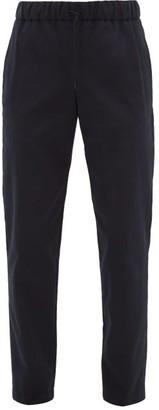 A.P.C. Kaplan Drawstring-waist Cotton-twill Chinos - Dark Navy